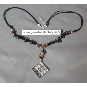 Nine-Pyramid Chakra Necklace