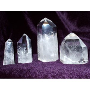 Fully Polished Standing Quartz Points