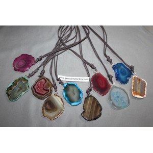 Agate Slab Necklaces