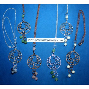 Copper/Silver Metal Tree Necklace