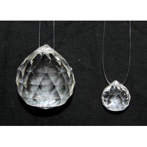 Faceted Crystal Feng Shui Hanging Small