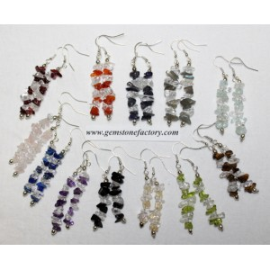 Assorted Chip Earrings with Quartz