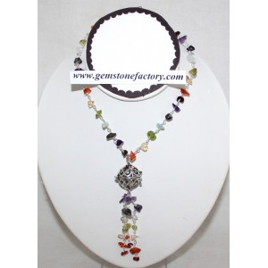 Wish Dangle Chakra Necklace 24""