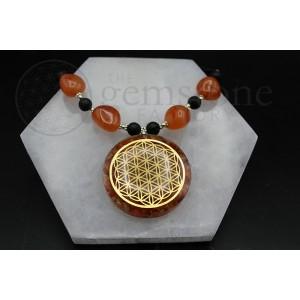 Carnelian Orgonite Necklace