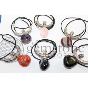 Buddha Head Tumbled Stone Necklace