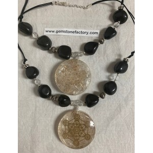 Selenite Organite Necklace