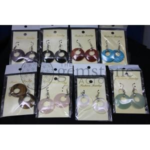 Assorted Gemstone Donut Earring