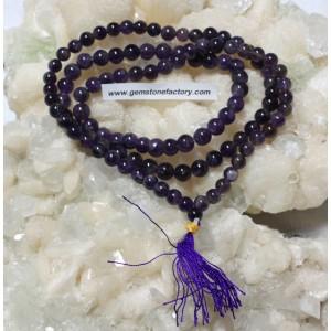 Mala Beads Amethyst A Grade