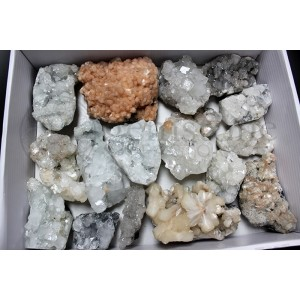 Apophyllite and Stilbite Clusters 20lb lot