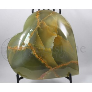 Green Calcite Heart