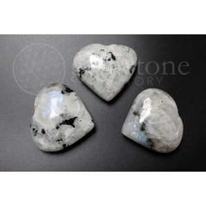 Rainbow Moonstone Hearts