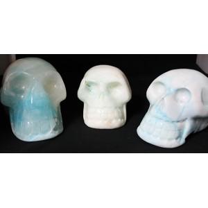 Skull Blue Aragonite