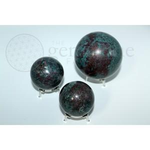Ruby Kyanite Spheres