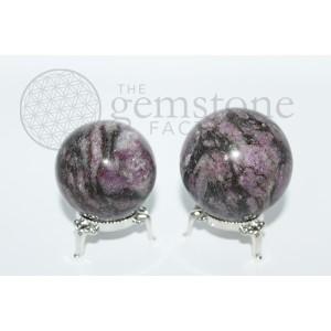 Pink Garnet Spheres