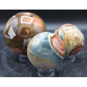 Polychrome Jasper Spheres