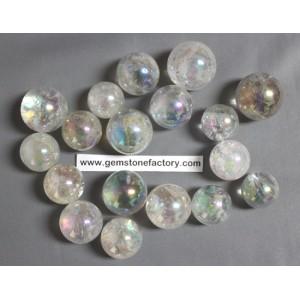 Rainbow Aura Quartz Spheres