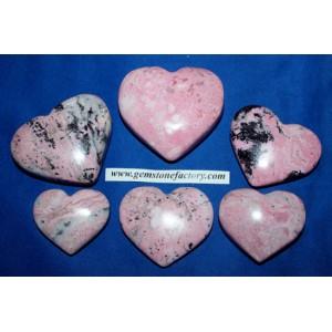 Rhodochrosite Hearts