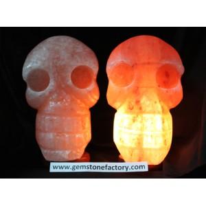 Salt Skull Lamp