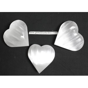Selenite Carved Hearts