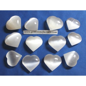 Selenite Hearts Premium 65-75mm