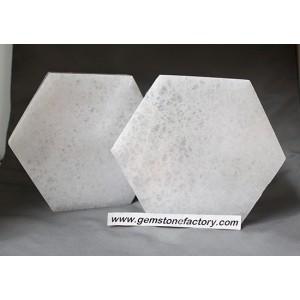 "Selenite Hexagon Large 6"""