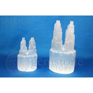 "Selenite Twin Tower 6"" Points"