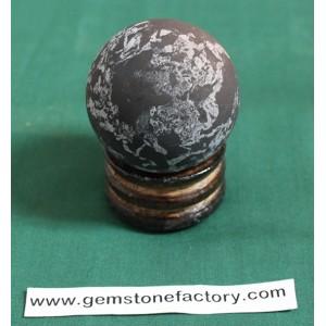 Shungite Sphere with Quartz 50mm