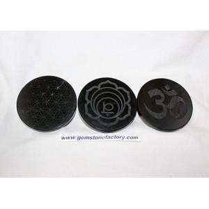 Shungite Engraved Charging Disks Large