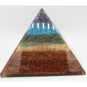 Giant Chakra Orgonite Pyramid #4