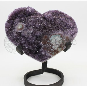 Amethyst Heart on Stand #508