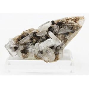 Calcite and Quartz Cluster on Stand #28