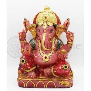 Rose Quartz Ganesh D