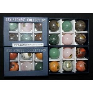 Assorted 30mm Gemstone Spheres
