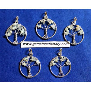 Tree of Life Opal Sterling Silver Pendant