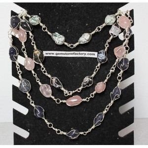 Premium Gemstone Wire Necklace Group #3