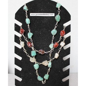 Premium Gemstone Wire Necklace Group #1