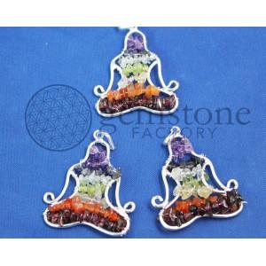 Chakra Chip Kwan Yin Pendant