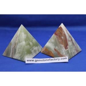 Green Onyx Pyramid
