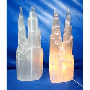 Selenite Two-Tower Lamp XL