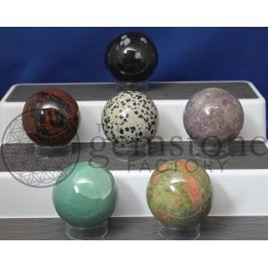 Assorted Gemstone 50mm Spheres