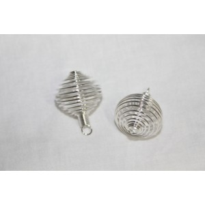 Cages Silver Color Round