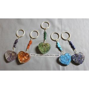 Key Chains Orgonite Heart