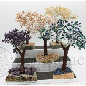 ***Closeout*** Gemstone Trees on Natural Base
