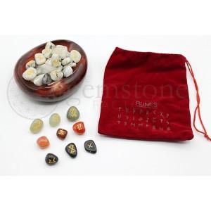 Rune Sets in Red Velvet Bag